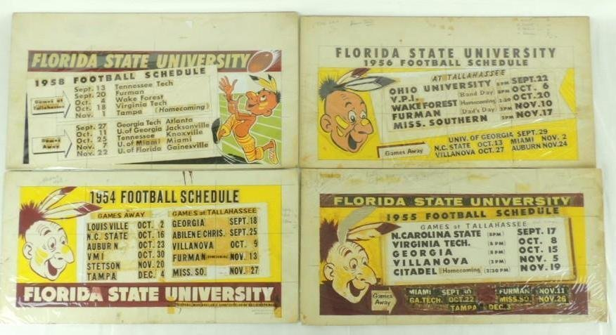1954, 55, 56, and 58 Florida State University Football