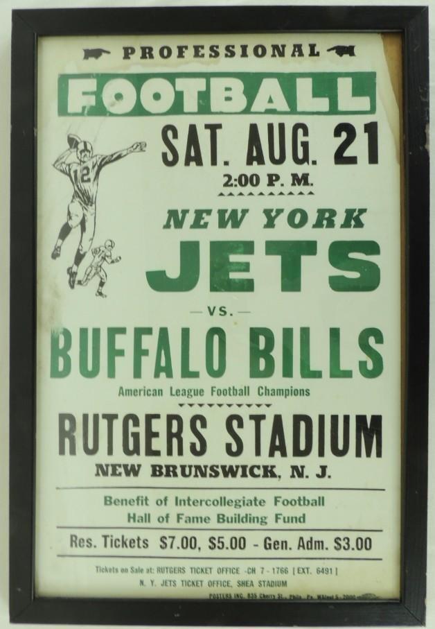 1965 Pre Season Game, New York Jets vs Buffalo Bills at