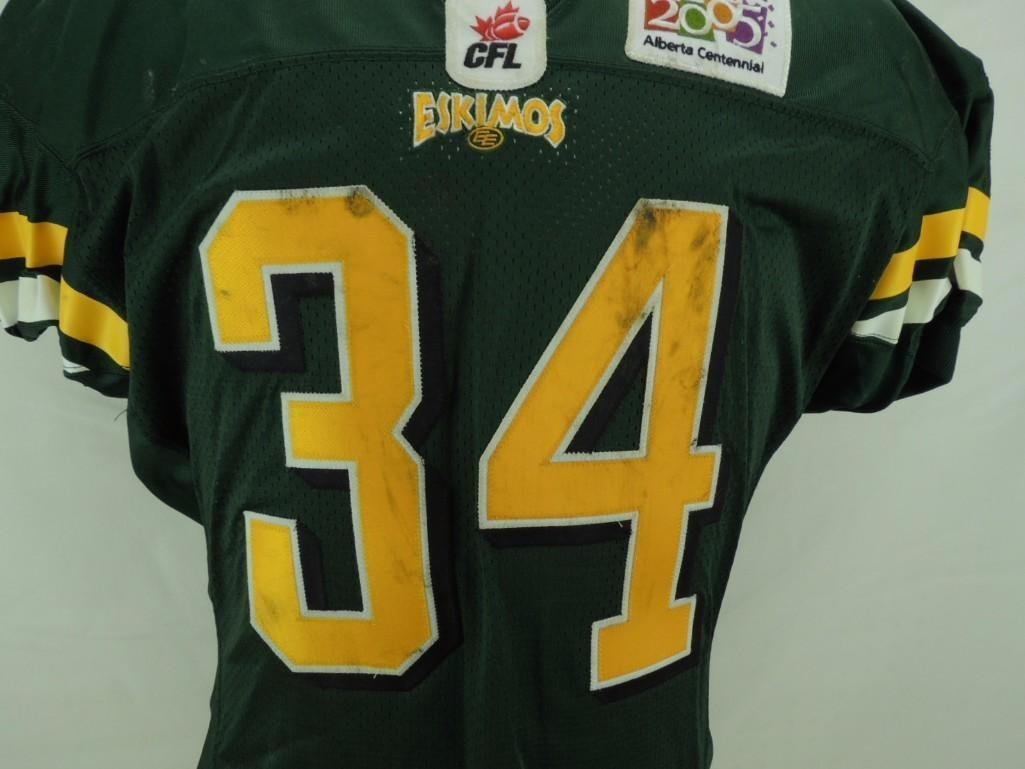 2004 Mike Pringle Edmonton Eskimos CFL Game-Worn Jersey - 2