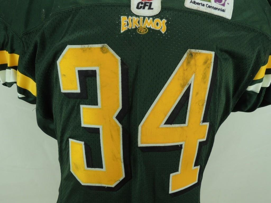2004 Mike Pringle Edmonton Eskimos CFL Game-Worn Jersey - 3