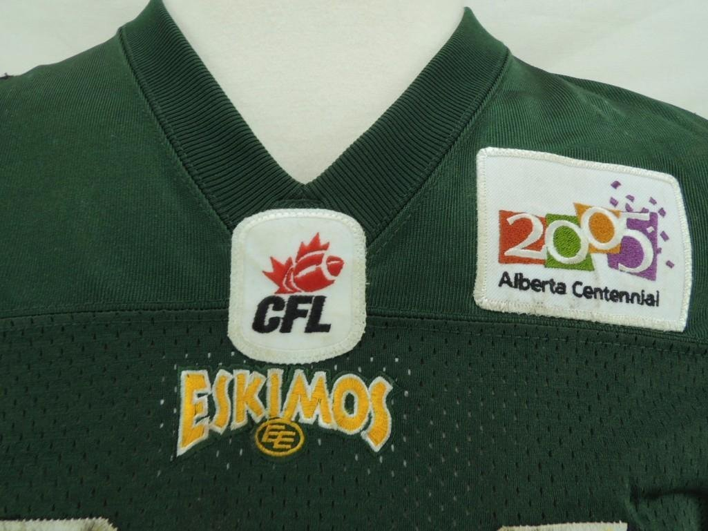 2004 Mike Pringle Edmonton Eskimos CFL Game-Worn Jersey - 4