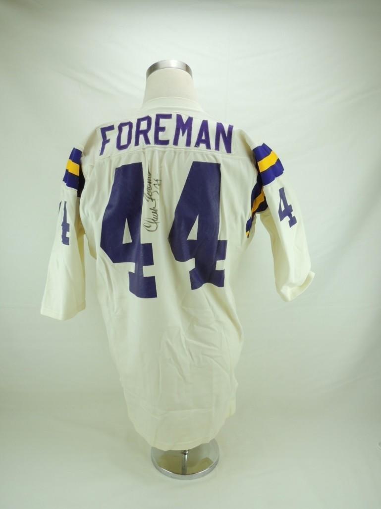 Chuck Foreman Signed Minnesota Vikings Game-Worn Jersey - 4