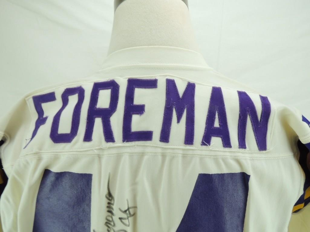 Chuck Foreman Signed Minnesota Vikings Game-Worn Jersey - 6