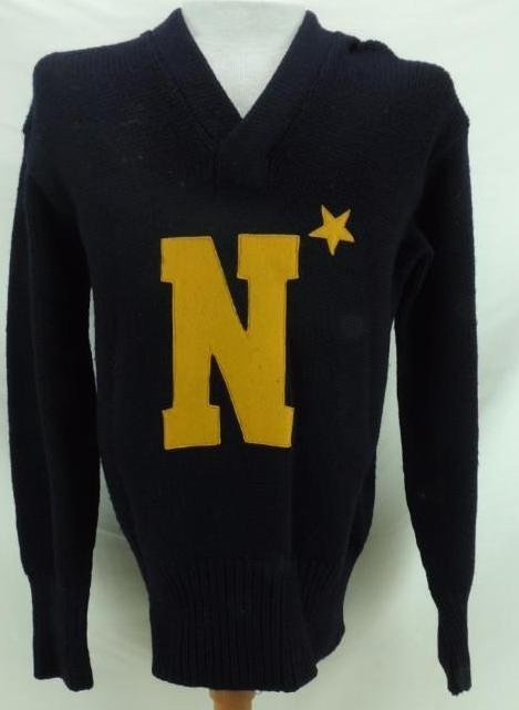 1943 Ed Sprinkle Navy Sweater with COA
