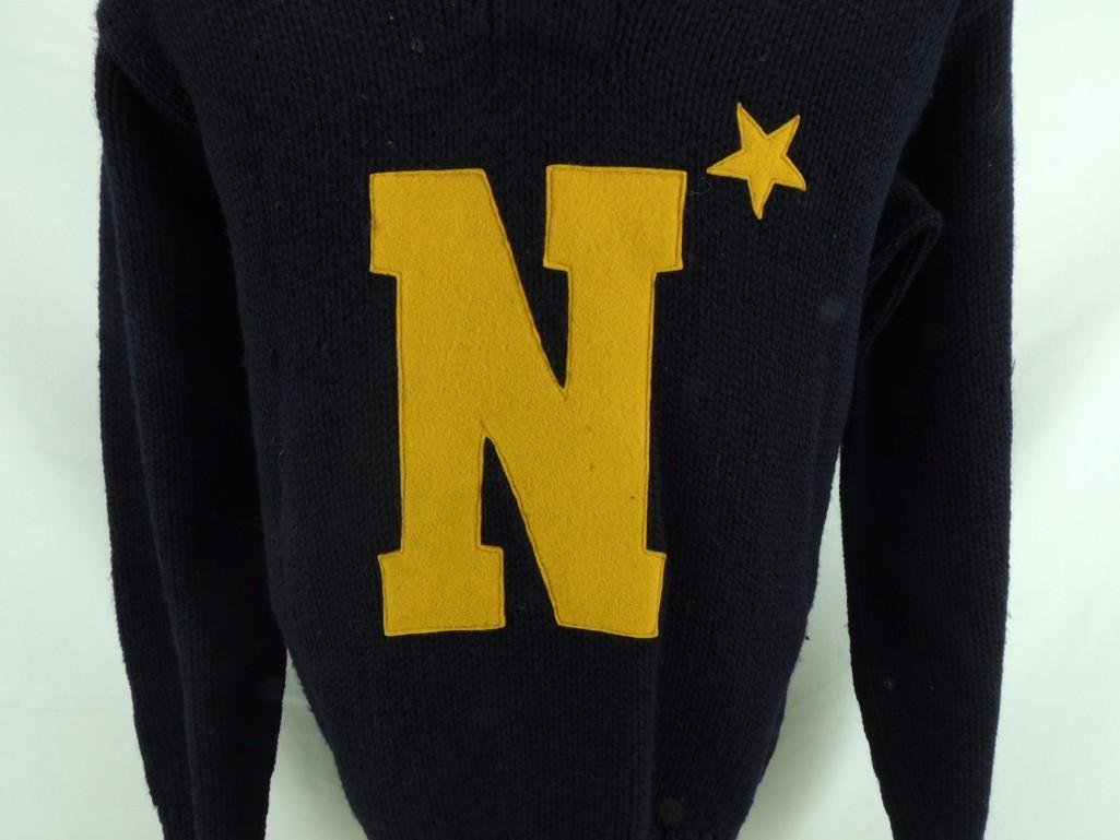 1943 Ed Sprinkle Navy Sweater with COA - 2