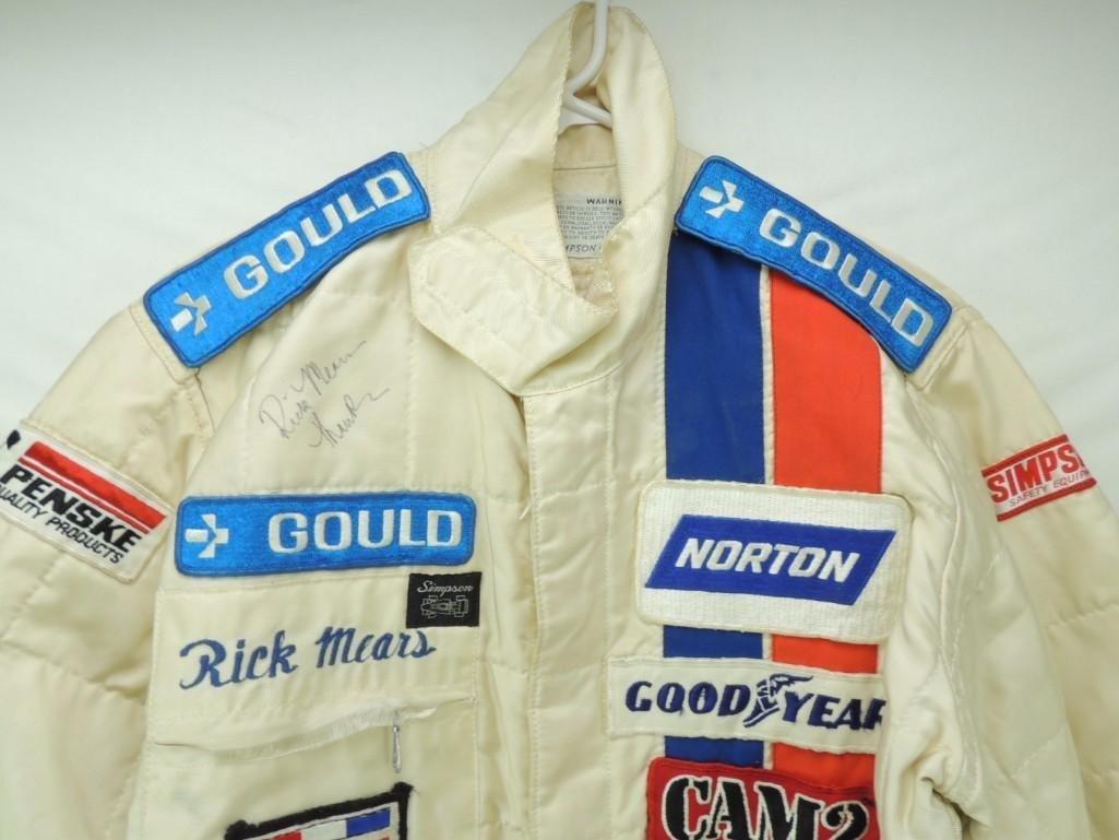 Rick Mears Signed Penske Goodyear Tire Race-Worn Racing - 3