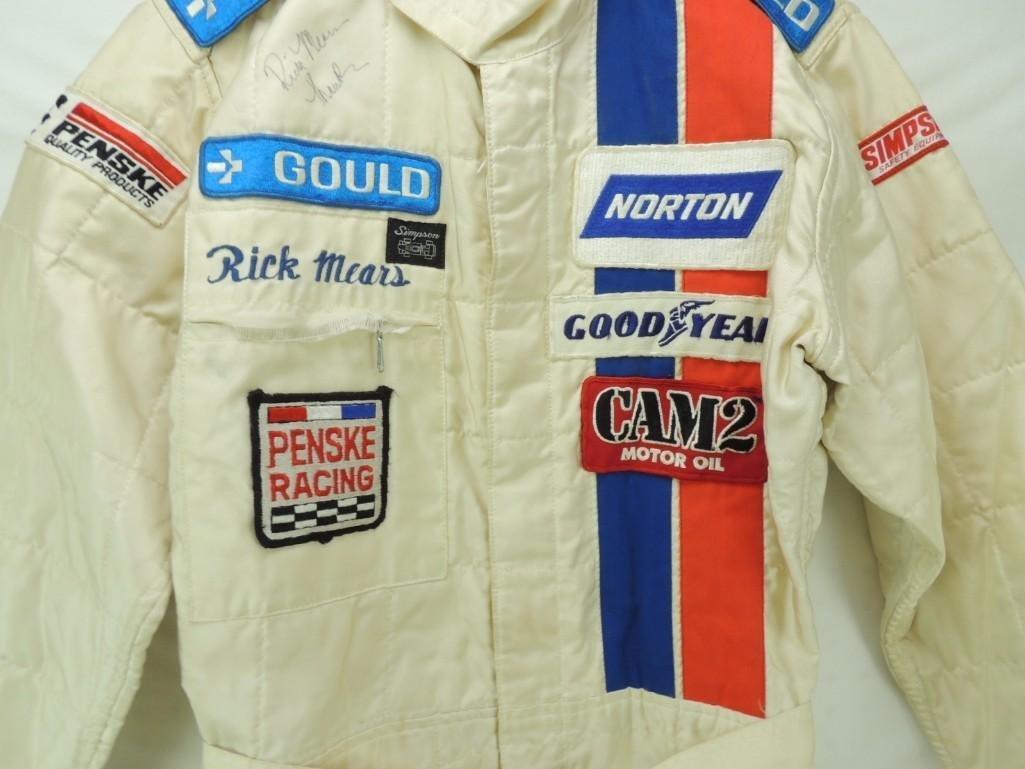 Rick Mears Signed Penske Goodyear Tire Race-Worn Racing - 4