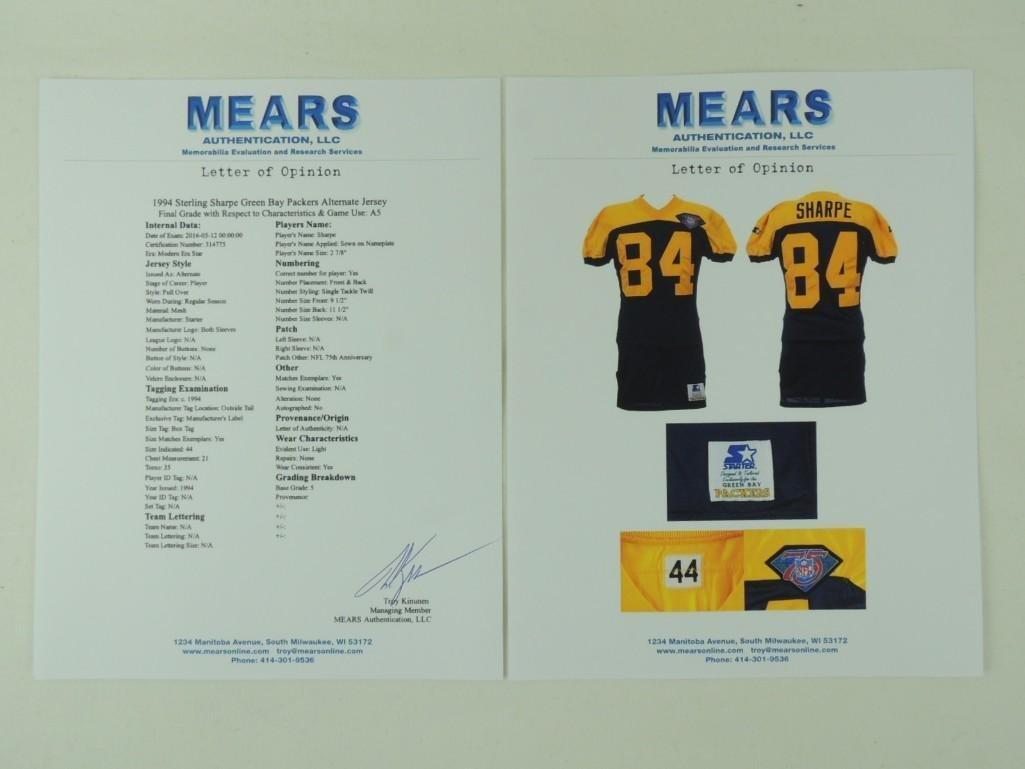 1994 Sterling Sharpe Green Bay Packers Alternate Jersey - 8