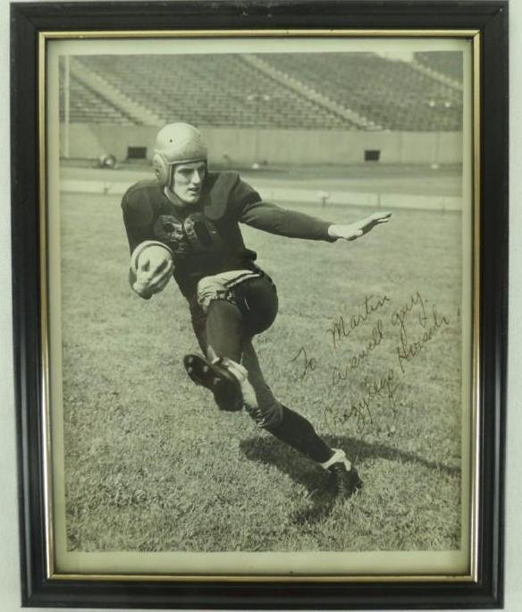 "Elroy ""Crazy Legs"" Hirsch Signed Press Photo Framed"