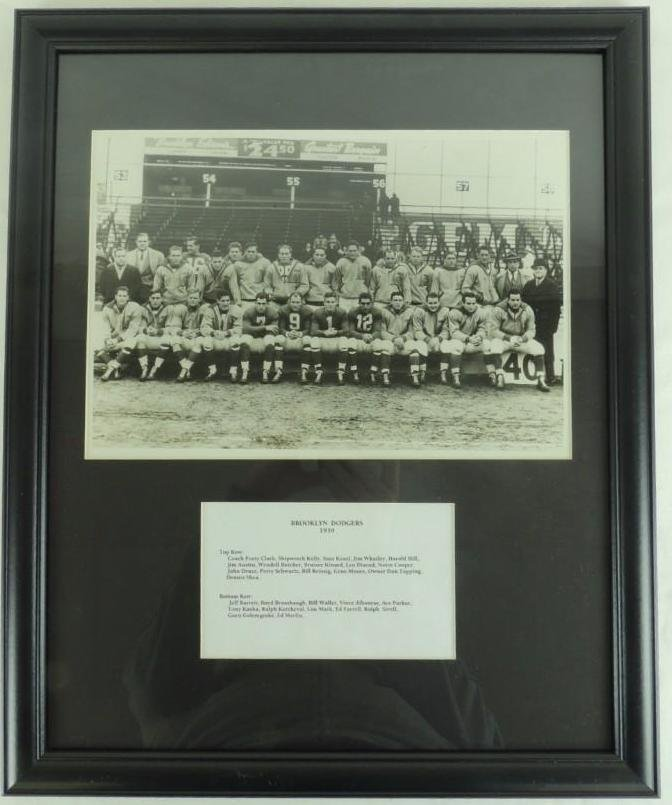 1939 Brooklyn Dodgers Framed Team Photo Formerly of the