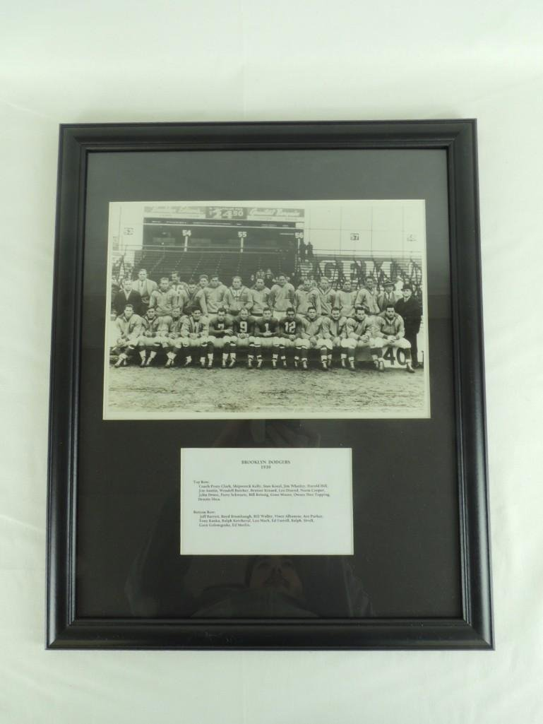 1939 Brooklyn Dodgers Framed Team Photo Formerly of the - 2