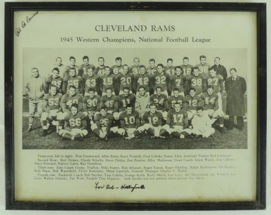 1945 Cleveland Rams NFL Champions Framed Team Photofor
