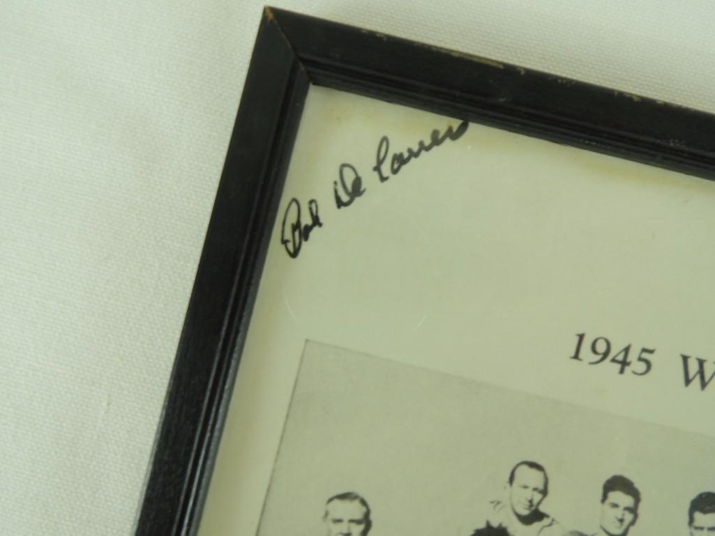 1945 Cleveland Rams NFL Champions Framed Team Photofor - 2