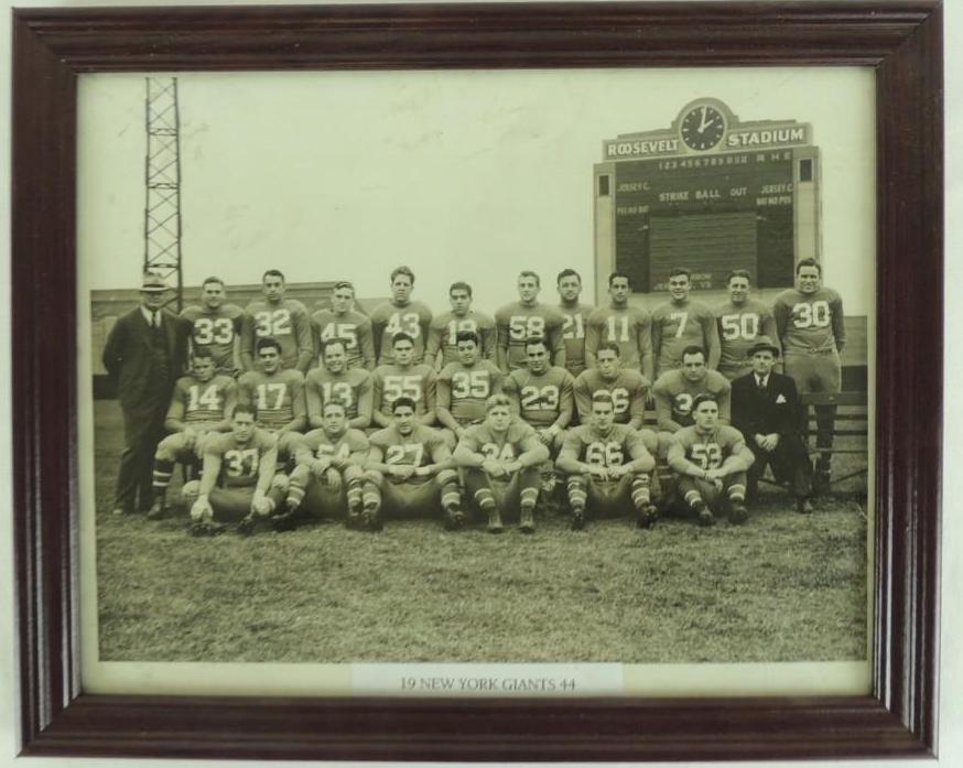 1944 New York Giants Framed Team Photo
