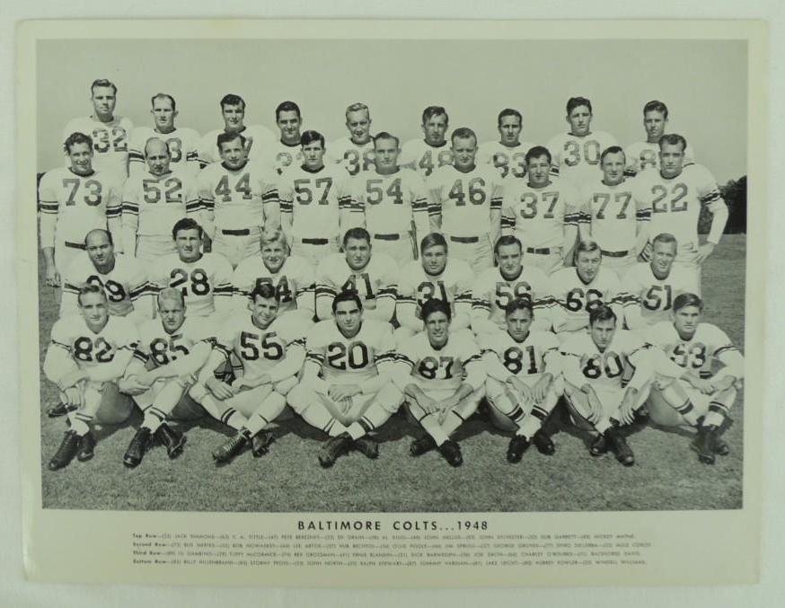 1948 Baltimore Colts Team Photo
