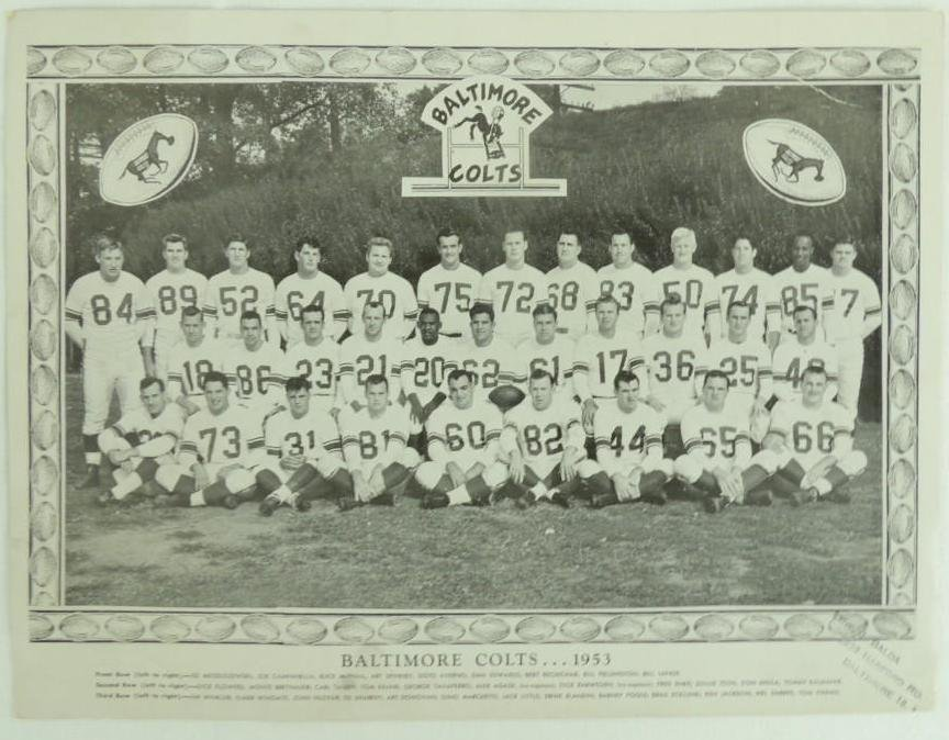 1953 Baltimore Colts Team Photo