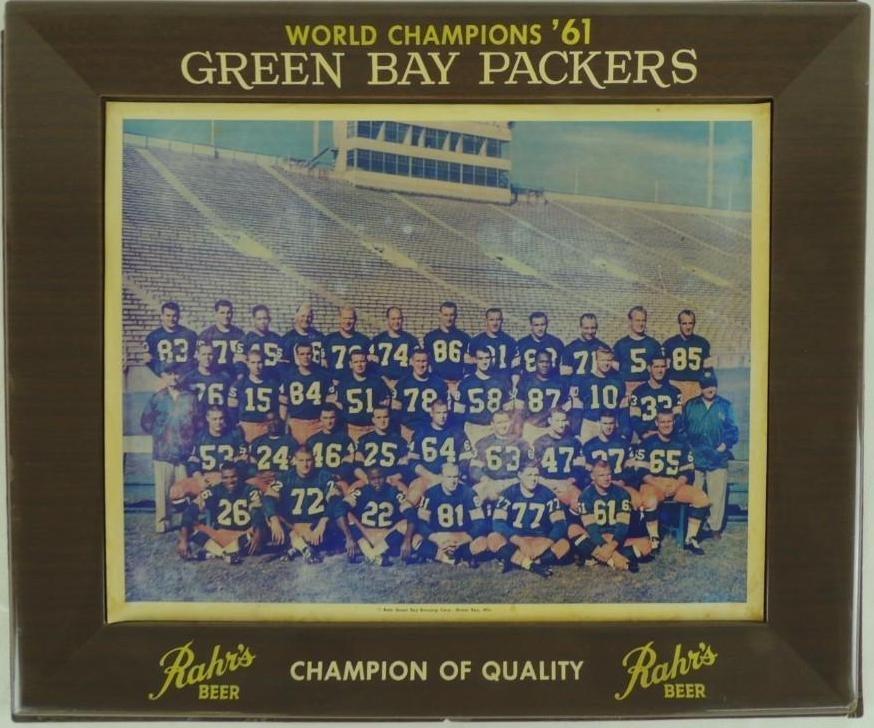 1961 World Champion Green Bay Packers Rahr's Beer