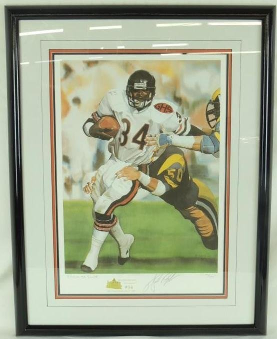 "Walter ""Sweetness"" Payton Signed Limited Edition Print"