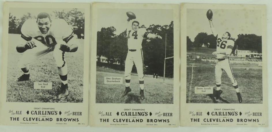 Cleveland Browns Carling Black Label Beer Advertising