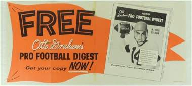 1956 Otto Graham Pro Football Digest Advertising Poster