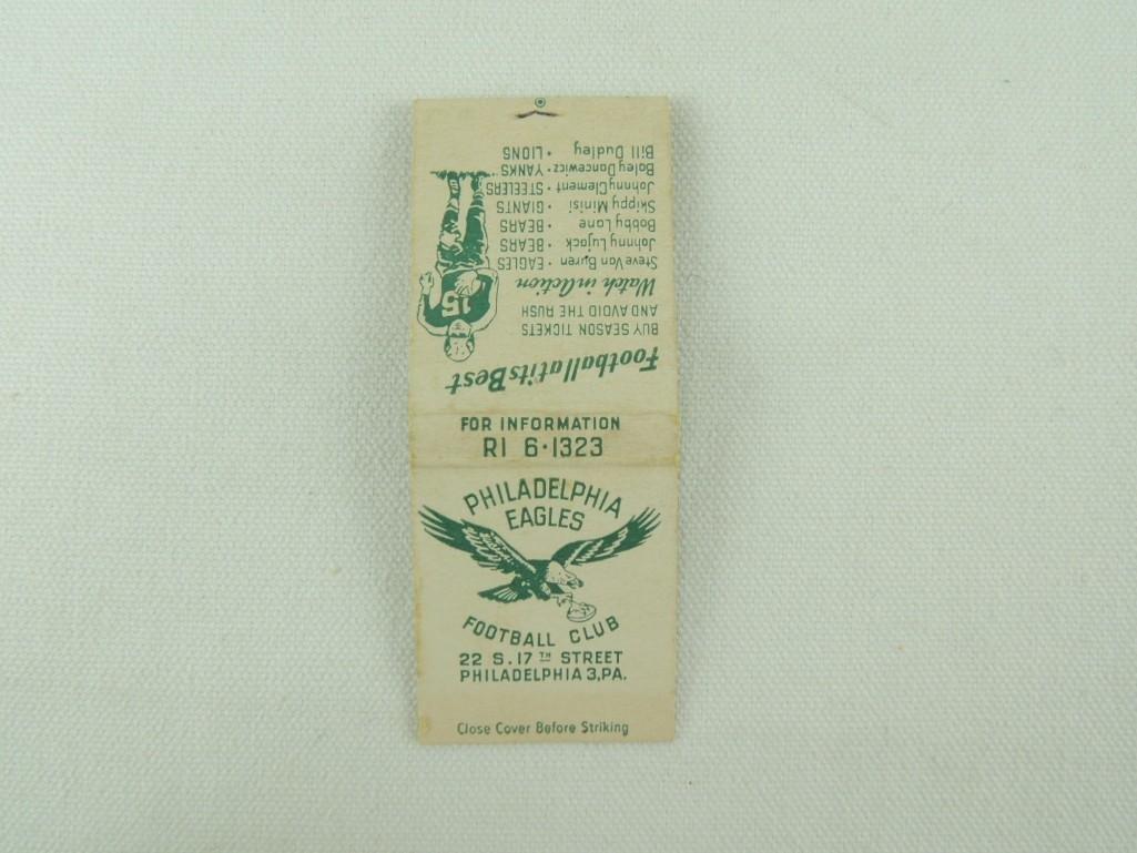 1948 Philadelphia Eagles Matchbook Schedule - 2