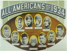 1934 AllAmericans Cardboard Die cut Poster Featuring