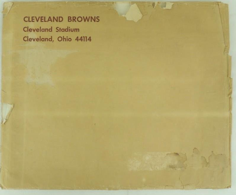 1963 Cleveland Browns Oversized Photo Bookwith
