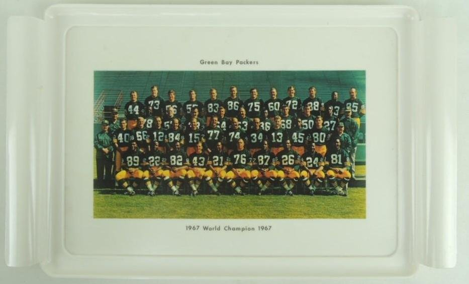 1967 World Champions Green Bay Packers Plastic Tray