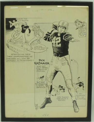 Gene Mack Drawing of Dick Kazmaier