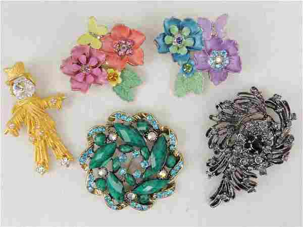 Costume Brooches Jewelry Lot