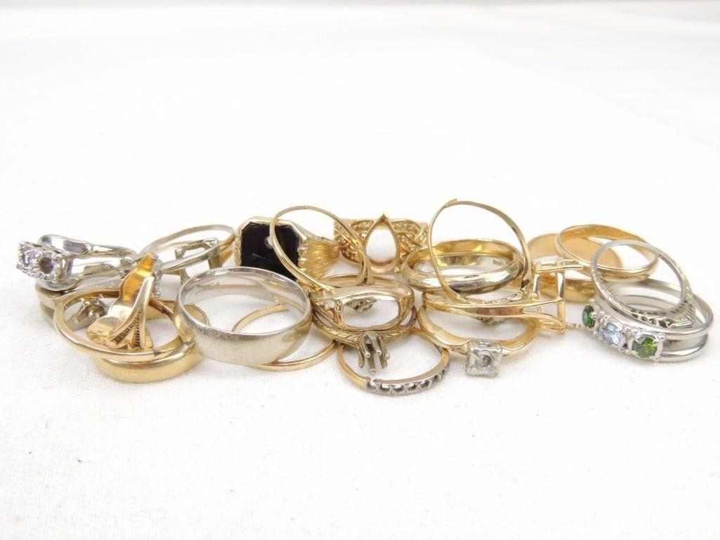 14k Gold Scrap Rings Lot