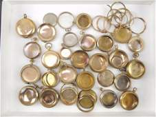 Group of Gold Filled Pocket Watch Casesand Parts
