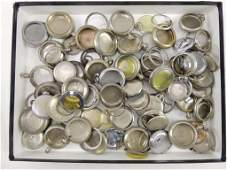Large Group of Pocket Watch Casesand Parts