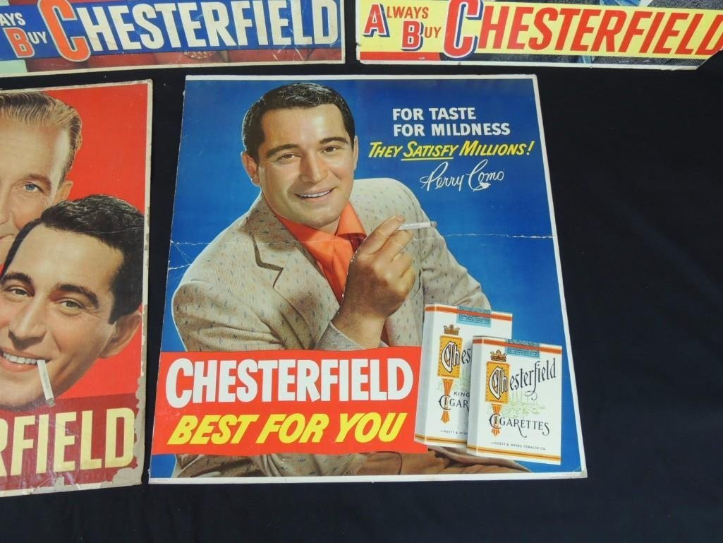 Vintage Chesterfield Cigarettes Cardboard Advertising - 2