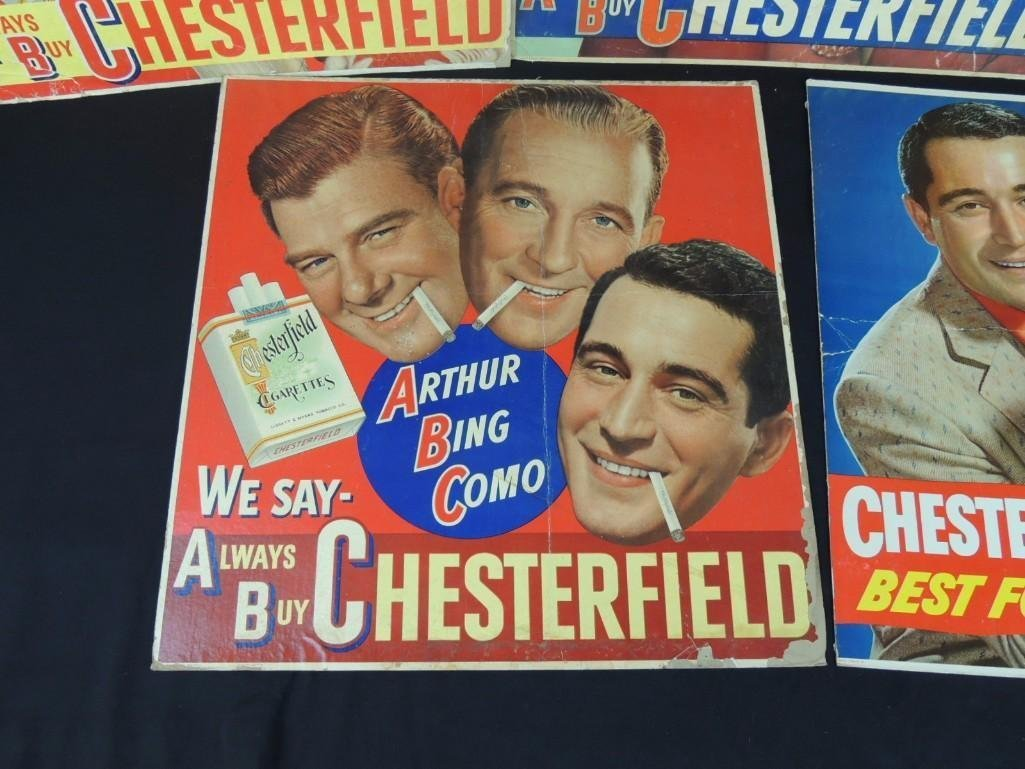 Vintage Chesterfield Cigarettes Cardboard Advertising - 3