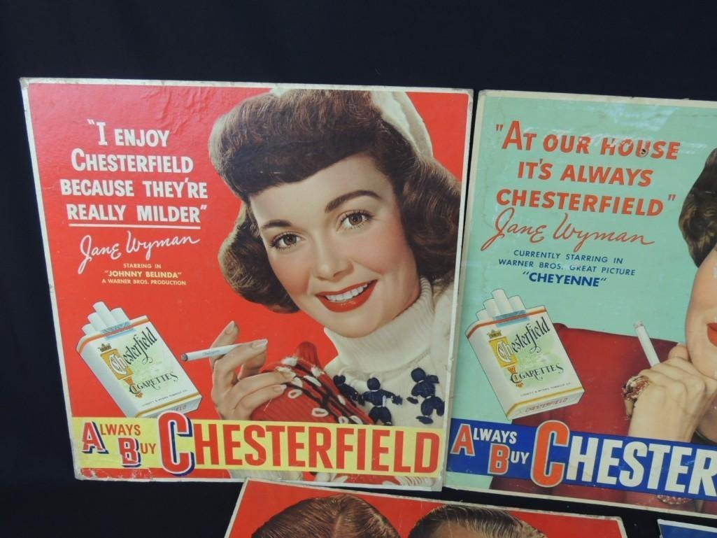 Vintage Chesterfield Cigarettes Cardboard Advertising - 4