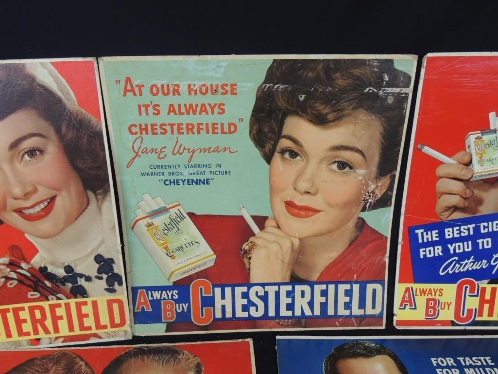 Vintage Chesterfield Cigarettes Cardboard Advertising - 5