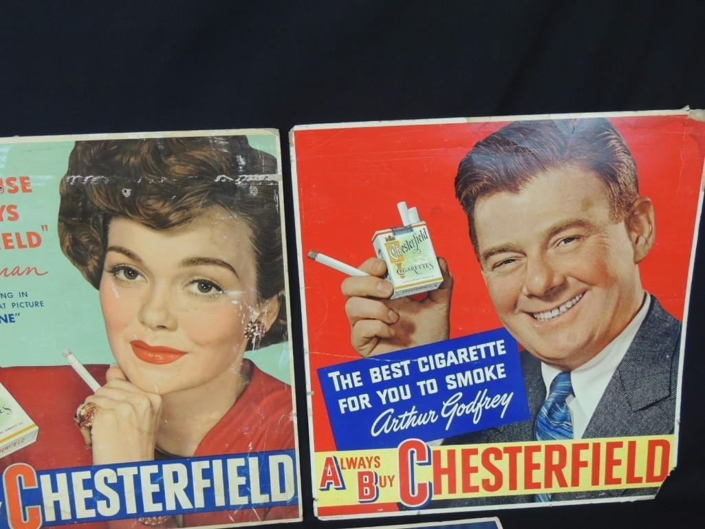 Vintage Chesterfield Cigarettes Cardboard Advertising - 6