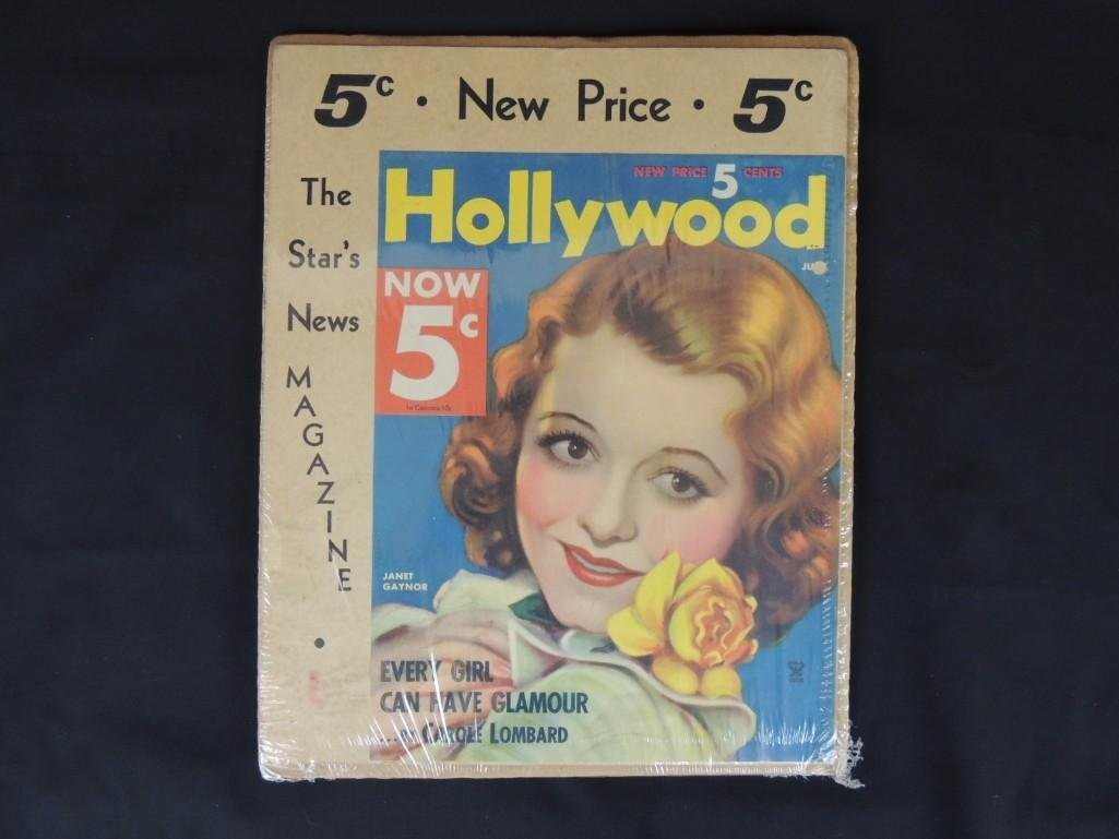 Hollywood Magazine News Stand Cardboard Advertisement