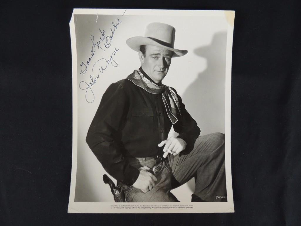 Vintage John Wayne Signed Photo