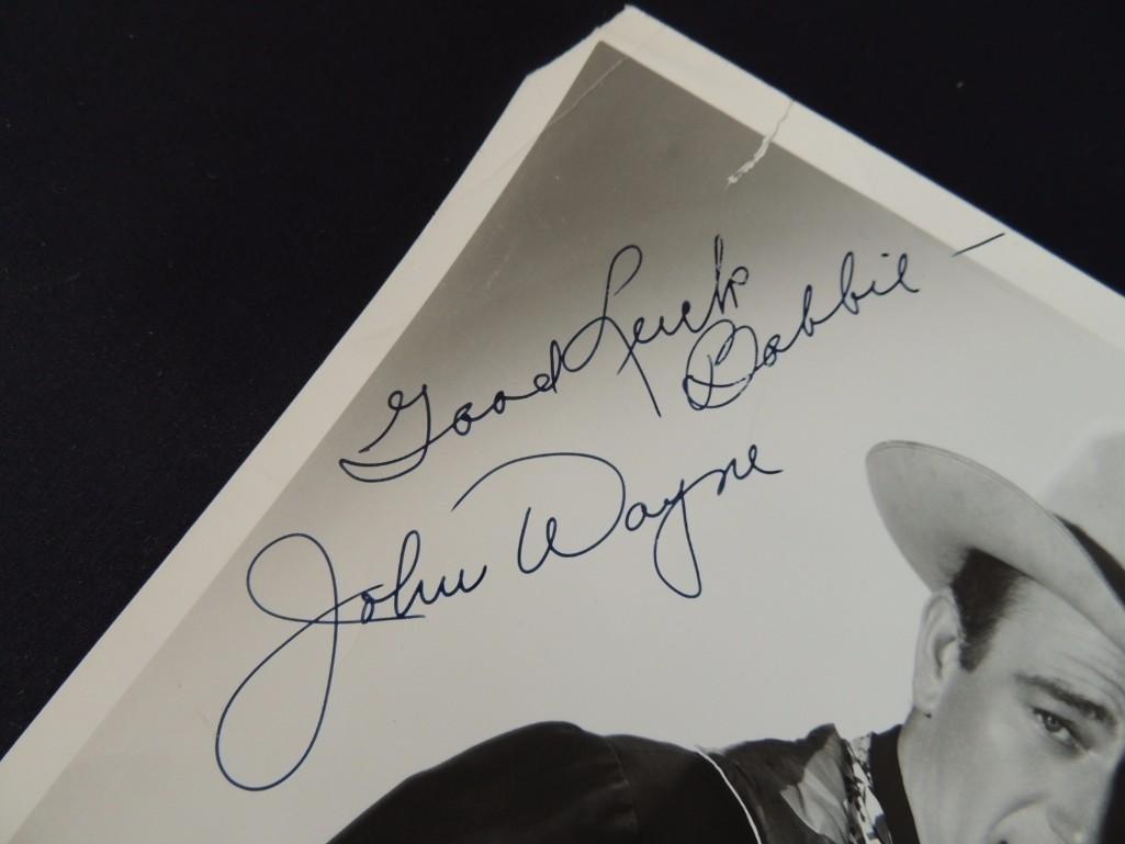 Vintage John Wayne Signed Photo - 2