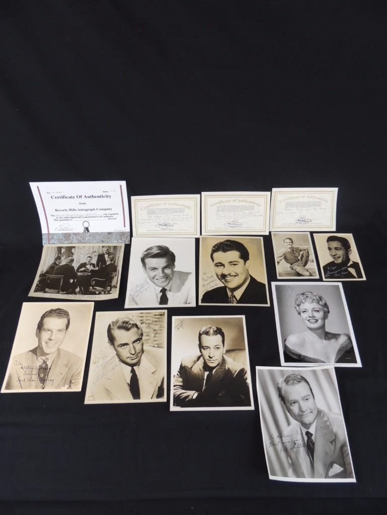 Group of Hollywood Actors and Actresses Signed Photos