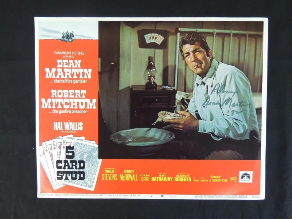 Dean Martin Signed 5 Card Stud Movie Poster