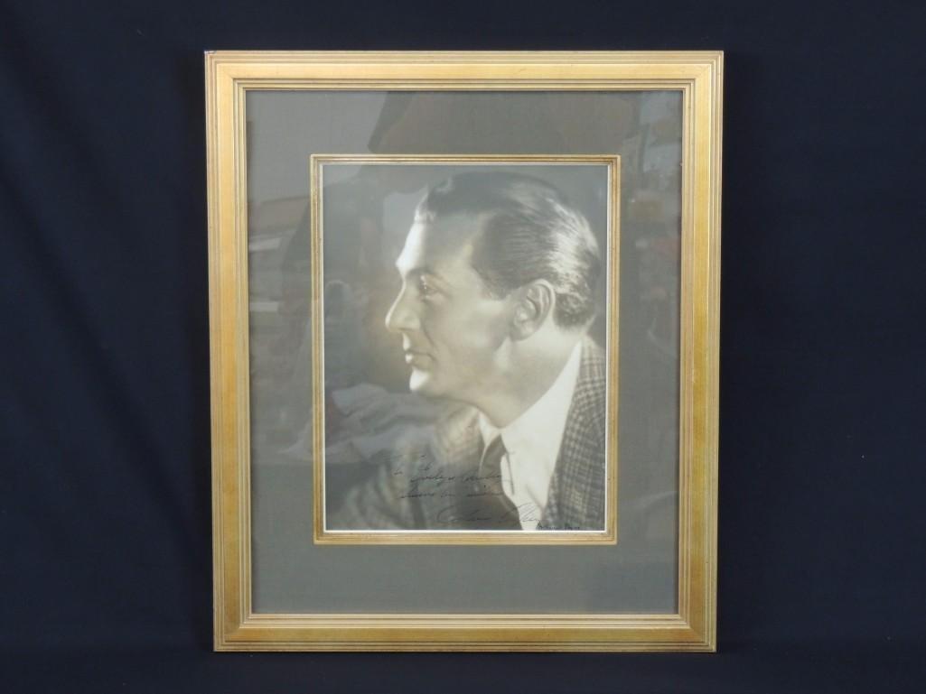 Gary Cooper Framed Vintage Signed Photo