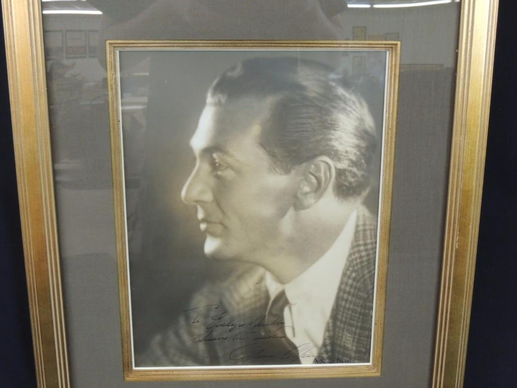 Gary Cooper Framed Vintage Signed Photo - 2