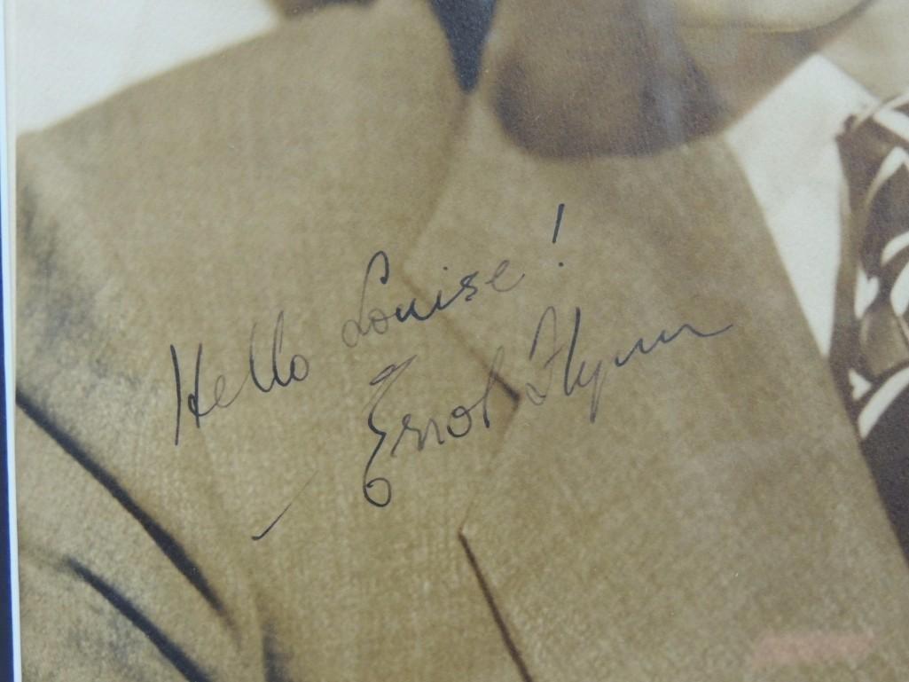 Erroll Flynn Framed Signed Photo - 2