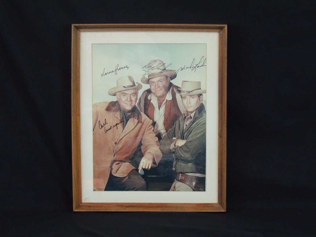 Bonanza Actors Framed Signed Color Photo