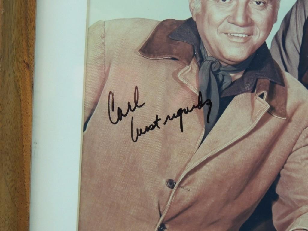 Bonanza Actors Framed Signed Color Photo - 2