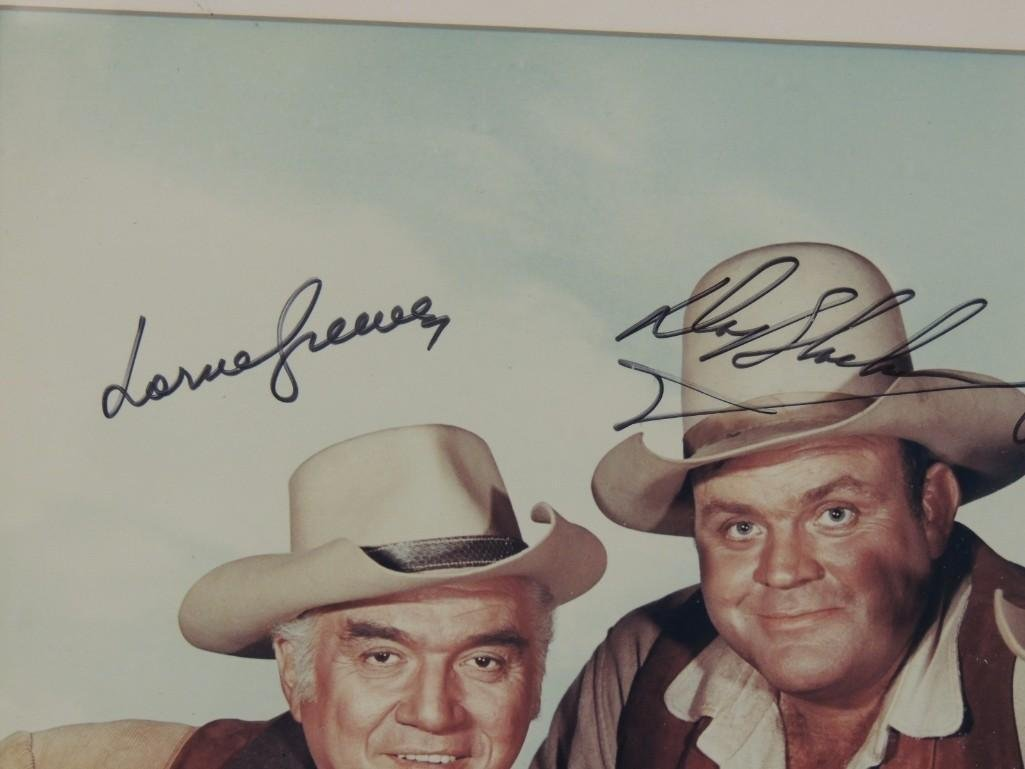 Bonanza Actors Framed Signed Color Photo - 3