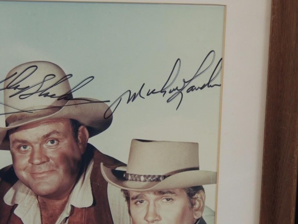 Bonanza Actors Framed Signed Color Photo - 4